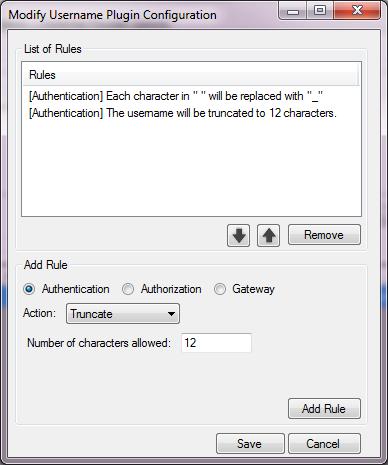 pGina Username Modification Plugin Documentation