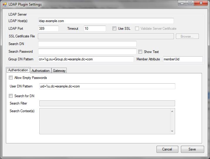 pGina LDAP Plugin Documentation